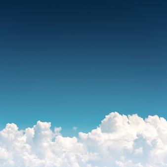 Cloudscape, cielo azul y nube blanca.