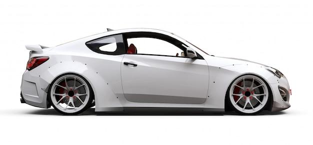 Coche deportivo coupé blanco