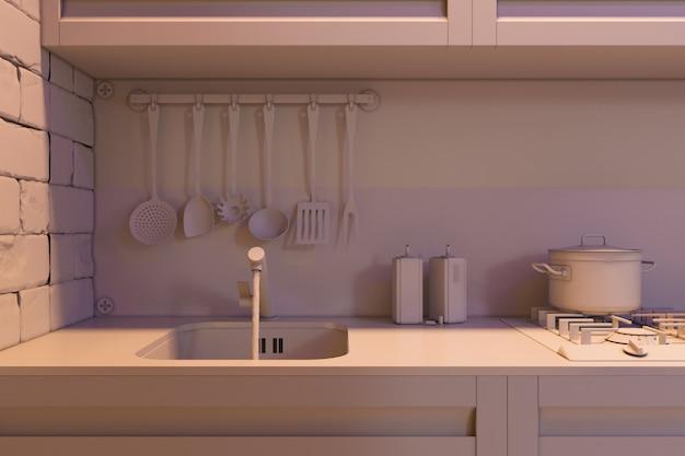 De cocina con accesorios