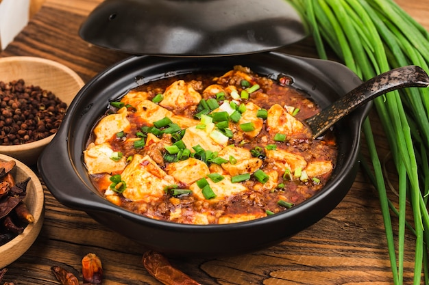 Cocina china: tofu y carne picada con salsa picante