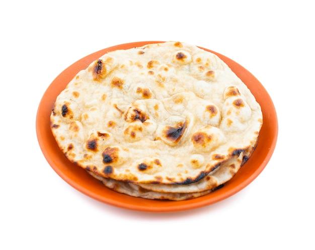 Cocina india tandoori roti pan plano de trigo integral