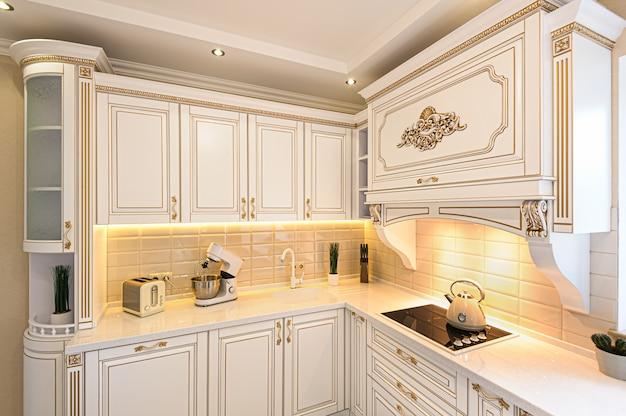 Cocina de lujo de estilo neoclásico