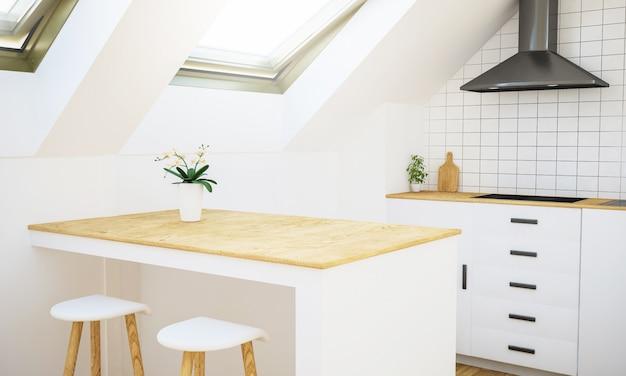 Cocina minimalista brillante