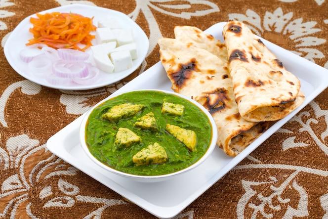 Cocina saludable india palak paneer