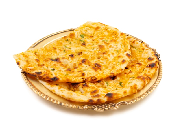 Cocina saludable india pan de ajo o ajo naan