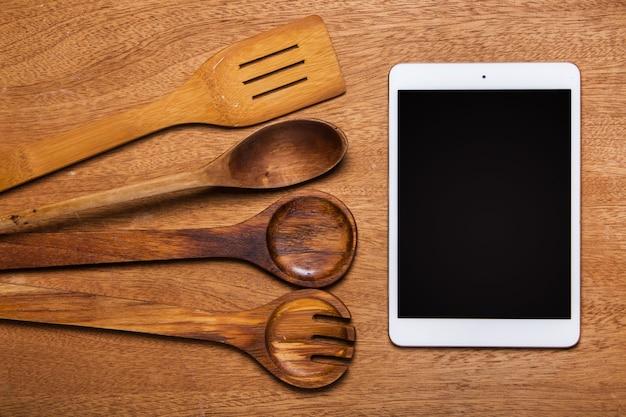 Cocina. utensilio de madera