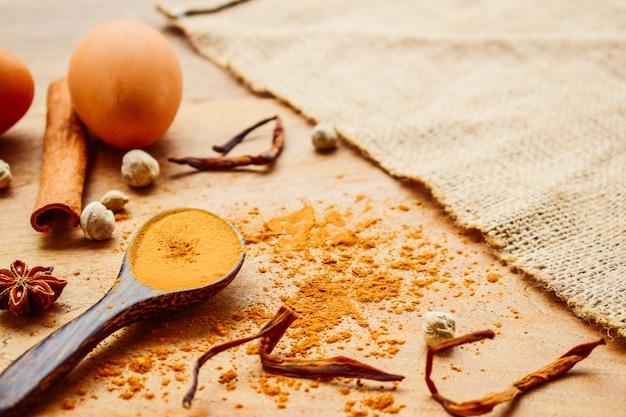 Cocinar el concepto de especias