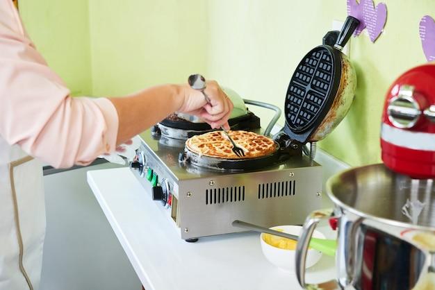 Cocinar gofres