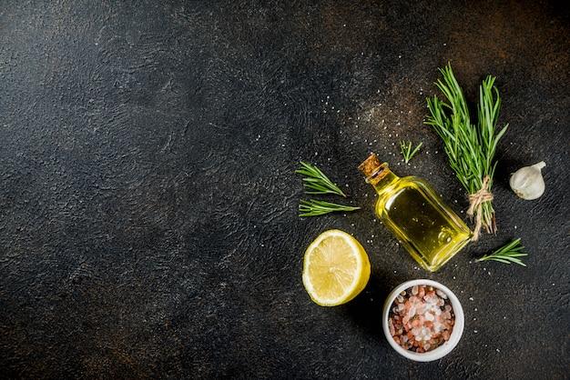 Cocinar ingredientes alimenticios