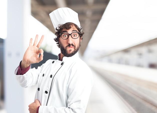 Cocinero diciendo okey