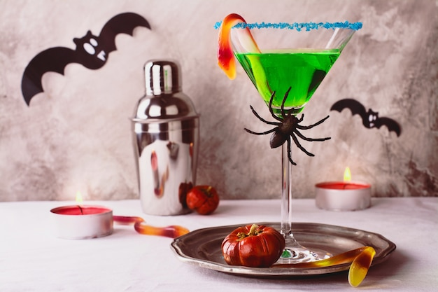 Cóctel de brujas de halloween