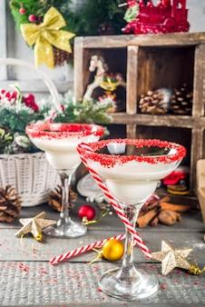 Cóctel de navidad blanca