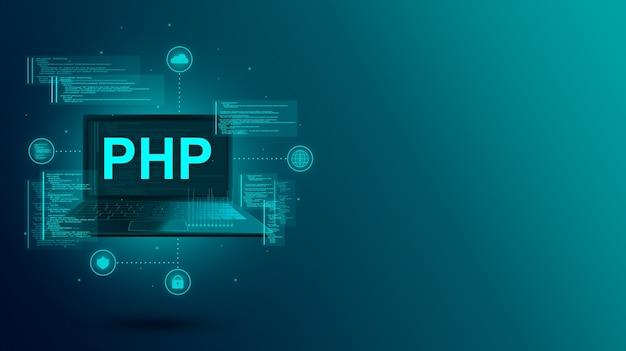 Codificación y programación de un sitio o aplicación en una computadora portátil