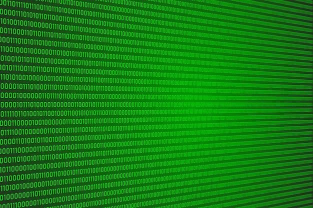 Código de dígito binario (bit), resumen de datos de computadora de señal digital para el fondo