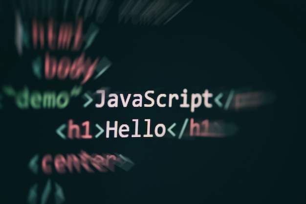Código javascript programación de lenguajes informáticos internet editor de texto componentes