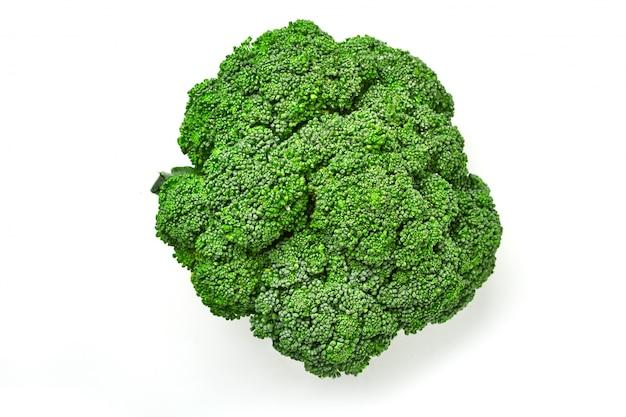 Col de brócoli. vista superior de brócoli. aislado