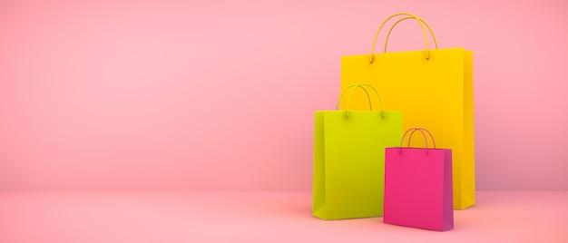 Colección colorida de bolsos de compras