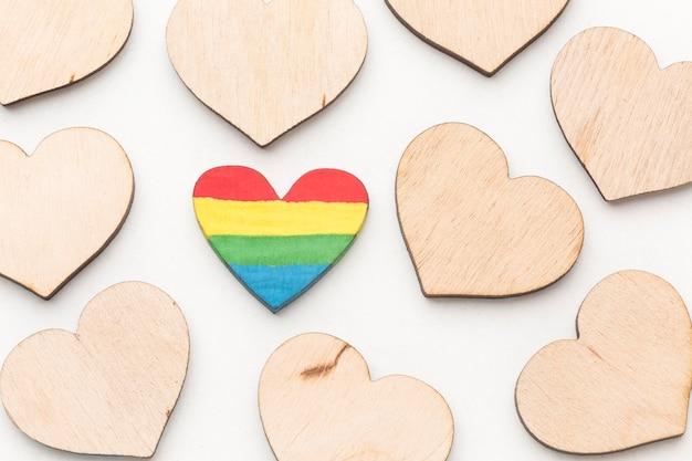 Colección de corazones del día del orgullo