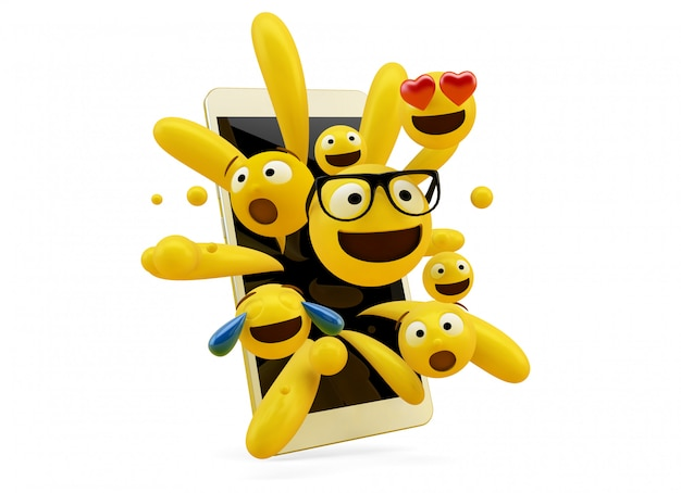 Colección emoji saliendo