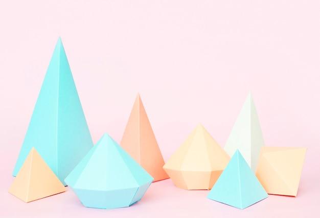 Colección de formas geométricas de papel