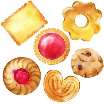 Colección de galletas, bizcochos