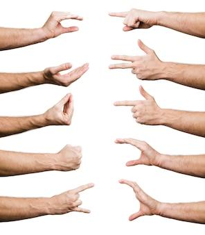 Colección de gestos de mano