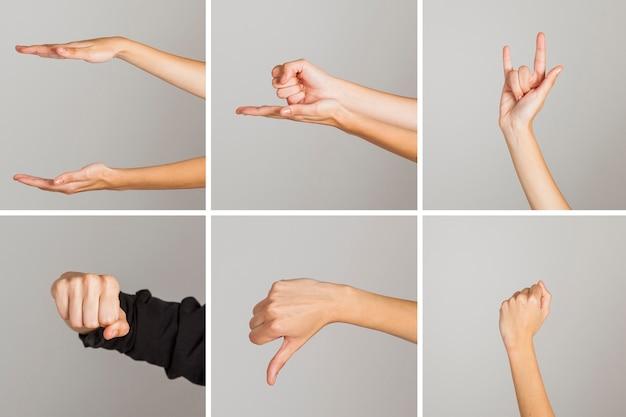 Colección de gestos de manos