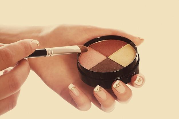 Colección de maquillaje de cerca