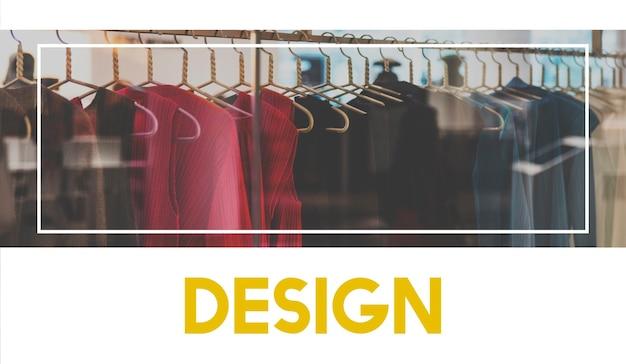 Colección de moda diseño compras palabras gráficas
