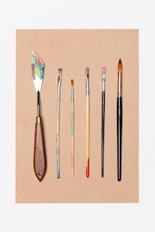 Colección de pinceles de pintura