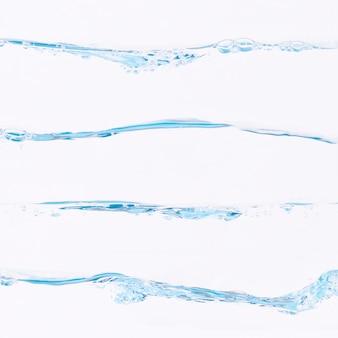 Colección de salpicaduras de agua