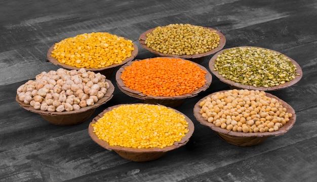Colección de semillas de alimentos
