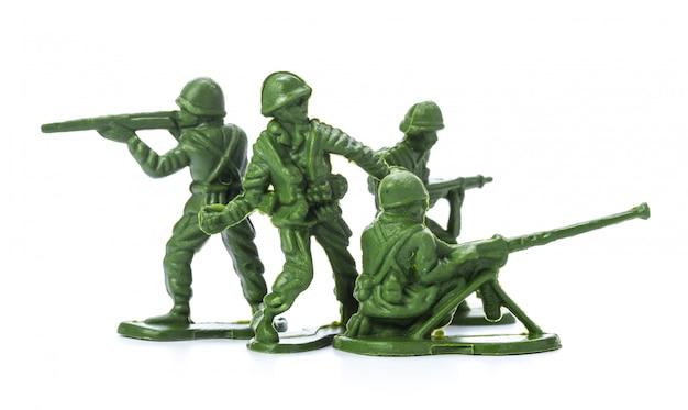 Colección de soldados de juguete tradicionales.