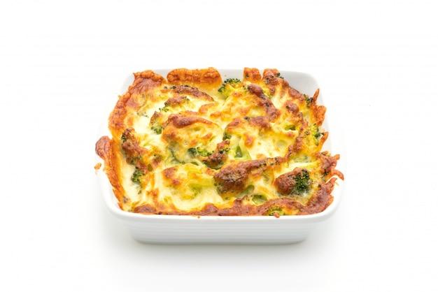 Coliflor al horno con brócoli al queso
