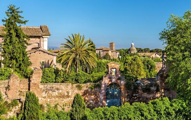 Colina celia, una de las siete colinas de roma