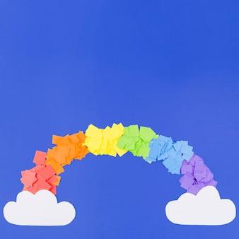 Collage de arcoíris colorido del día del orgullo lgbt