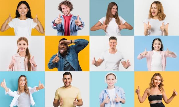Collage de colección de personas