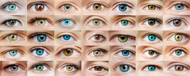 Collage de ojos