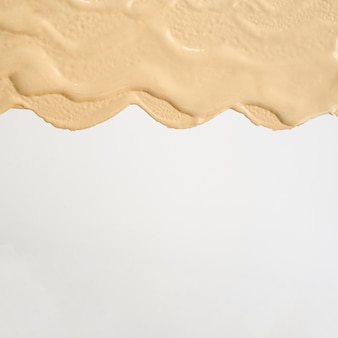 Colocación plana abstracta mancha de base con espacio de copia