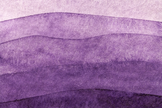 Colores del fondo abstracto del arte purpúreo claro y lila. acuarela sobre lienzo.