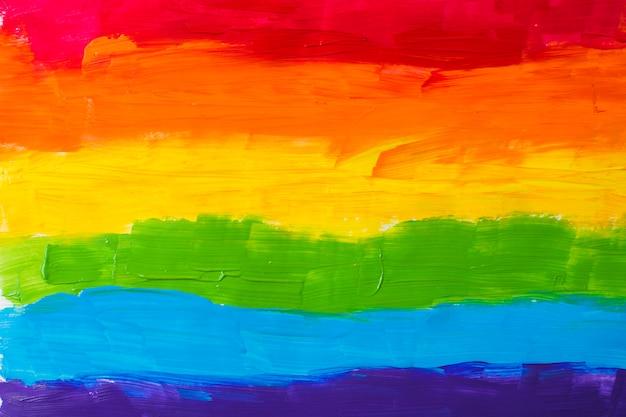 Colores lgbt sobre papel.