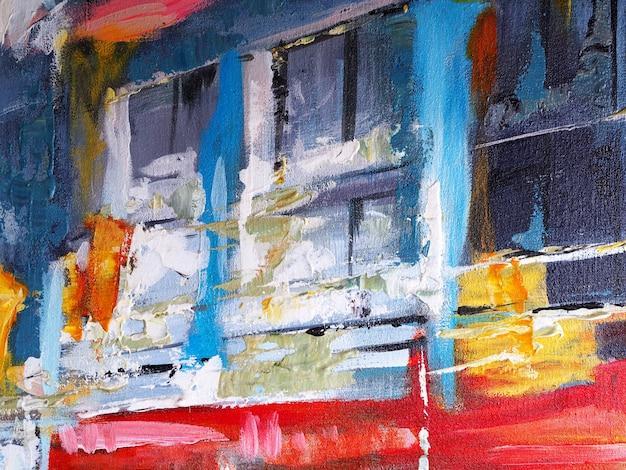Colores multi abstractos de la pintura al óleo colorida.