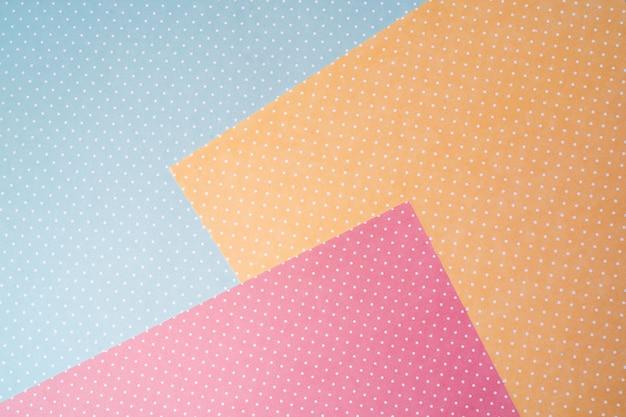 Colores pastel de papel abstracto multicolor con fondo de forma geométrica