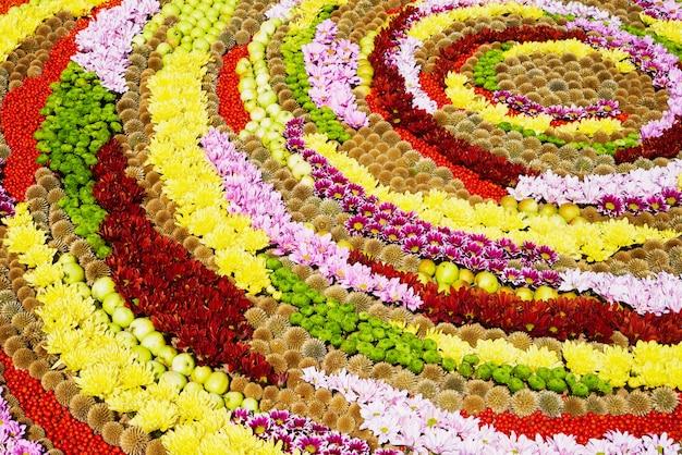 Coloridas flores de otoño.