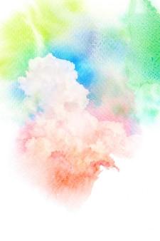 Coloridas nubes acuarelas