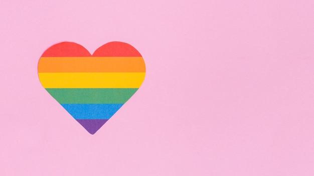 Colorido corazón del icono lgbt