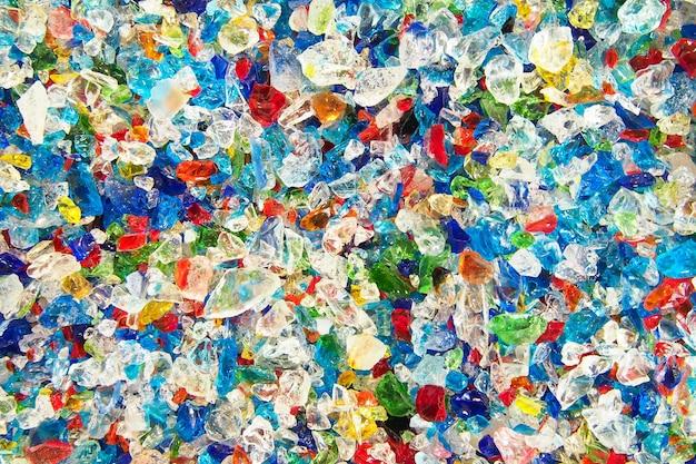 Colorido de fondo de fragmentos de vidrio