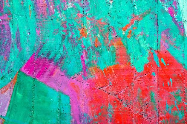 Colorido de la pared de cemento de edad