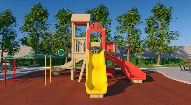 Colorido parque infantil
