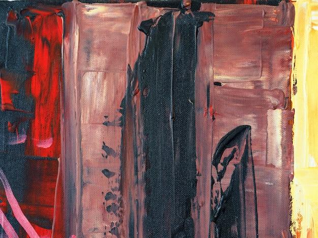 Colorido trazo de pincel de pintura al óleo sobre lienzo resumen antecedentes y textura